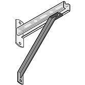 Strebe 45°-T-Profil Typ 310 L 310mm aus V4A Wst.Nr. 1.
