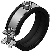 """Sigma-Rohrschelle 1/ 4""""/ M8 Spannbereich 12-15mm einteilig"""