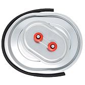 Metu Revisionsdeckel   Inspektionsdeckel Verzinkt mit IRD Gummiprofil für isolierte, rechteckige Kanäle