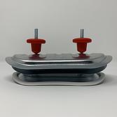 Metu Revisionsdeckel   Inspektionsdeckel Verzinkt mit grösseren Aussenplatine und PE-Schaumdichtung für aussen isolierte, runde Luftleitungen