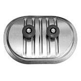 Metu Revisionsdeckel   Inspektionsdeckel Verzinkt mit 3. Platine, Glasfaserdichtung und Metallgriffen für aussen isolierte, runde Luftleitungen