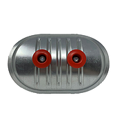 Metu Revisionsdeckel   Inspektionsdeckel V2A mit PE-Dichtung für runde Luftleitungen