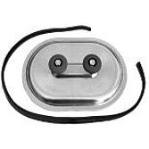 Metu Revisionsdeckel   Inspektionsdeckel V4A mit PE-Dichtung und Kantenschutz Selbstklebend für runde Luftleitungen