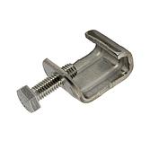 Gewindebügel/ Luftkanalklammer V2A mit montierter Sechskantschraube für Flangesystem 20, 30, 40