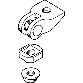 Universalgelenk Ug M10 mit Flanschmutter, verzinkt