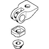 Universalgelenk Ug M12 mit Flanschmutter, verzinkt