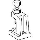 Trägerklammer Sikla Tcs1 V4A M8 / M10, rostfrei