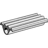 Dämmgummi für Montageschiene 41mm breit 8.5mm Dick