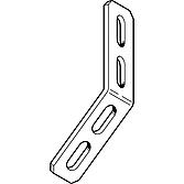 Eckverbinder 45° mit 4 Loch, verzinkt, 90x90x40mm