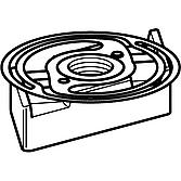 Schiebemutter M10 inkl. Halterung, Va