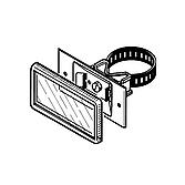 Universalhalter mit Spannband Stahl, verzinkt/ Band Aluminiert