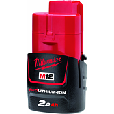 Milwaukee Akku 2.0Ah Red Li-Ion für M12-M28 Serie | M12 B2