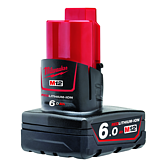 Milwaukee Akku 6.0Ah Red Li-Ion für M12-M28 Serie | M12 B6