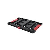Milwaukee Adapter in Verbindung eines Koffers mit Maschinen HD Box | Packout Aufbewahrungssystem
