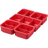 Milwaukee Set Ersatzboxen für Organiser Slim und Slim Compact | Packout Aufbewahrungssystem