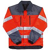 Warnschutzjacke L orange Mischgewebe Poly/ Baumw Reflexstreif