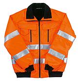 Warnschutzjacke L orange Webpelzkragen/ -Futter Reflexstreife