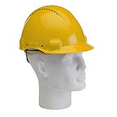 Schutzhelm 3M PELTOR gelb ABS-Kunststoff 4-Punkt-Gurtband...