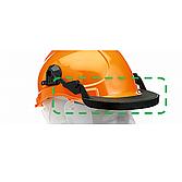 Helm Gesichtsschutzhalterung schwarz Kunststoff hochklappbar