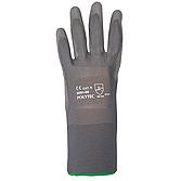POLYTEC Schutzhandschuh Gr.9 Nylon grau PU-Beschichtung