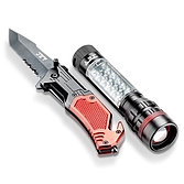 Notfall-Set mit Lampe, Klappmesser und Gurt-Schneider