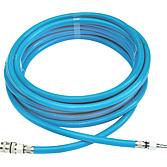 Druckluftschlauch 10M, blau mit Kupplungen 10x14mm 15bar