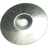Blechteller, Stahl verzinkt, Loch 8.5mm zur Kanalaussteifung