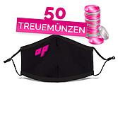 AP Stoff-Gesichtsmaske mit Nasenclip Grössenverstellbar Waschbar Schwarz | Mundschutz Hygienemasken | Mund-Nasen-Schutz | Mehrwegmaske