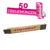"""Gliedermeter Holz 2m mit Aufdruck """"Airproduct"""""""