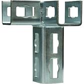 Eck-Verbinder Locher Nr. 4 Feuerverzinkt Links für alle 41mm Montageschienen (Profi Knopf-System)