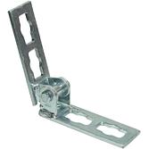 Gelenk-Verbinder 0-90° Locher Nr. 4 Feuerverzinkt Längs für alle 41mm Montageschienen (Profi Knopf-System)