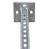 Deckenkonsolenhalter Feuerverzinkt mit Schiene für 41x41mm Montageschienen (Langloch-System Eco)