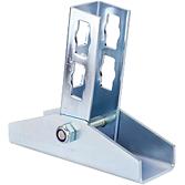 Gelenk-Verbinder 0-180° Locher Nr. 2 V4A für die Wandmontage (Profi Knopf-System)
