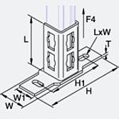 Ap Schienenfuss 56 x 175mm für 41mm Montageschienen