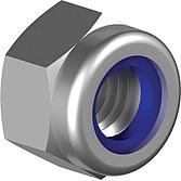Sicherungsmuttern mit Polymid-Ring Verzinkt  DIN 985